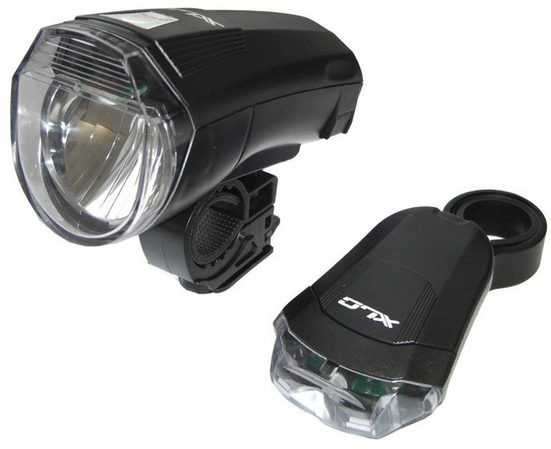 XLC Fahrradbeleuchtung »CL-S14 LED Batterieleuchten Set«