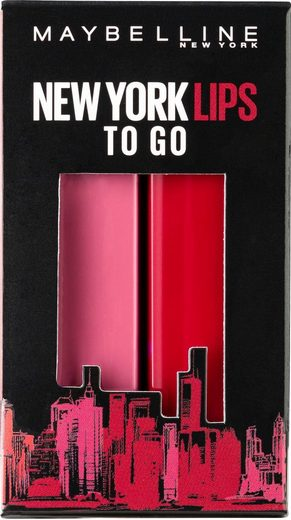 MAYBELLINE NEW YORK Geschenk-Set »X-MAS Made for All«, Nr. 376 Pink for me und Nr. 388 Plum for me