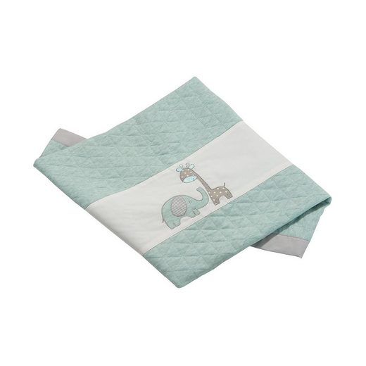 Be Be's Collection Babydecke Max & Mila, mint, 75 x 100 cm