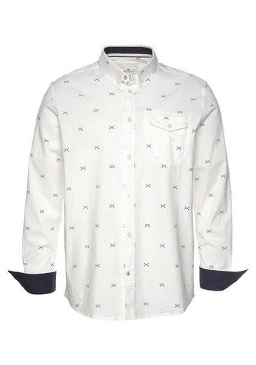 TOM TAILOR Langarmhemd mit kontrastfarbenen Manschetten
