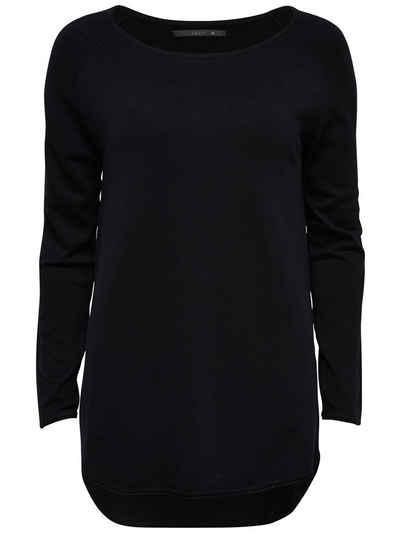 VIVANCE Pullover Gr 34 grau schwarz Stehkragen Pulli Longpullover NEU
