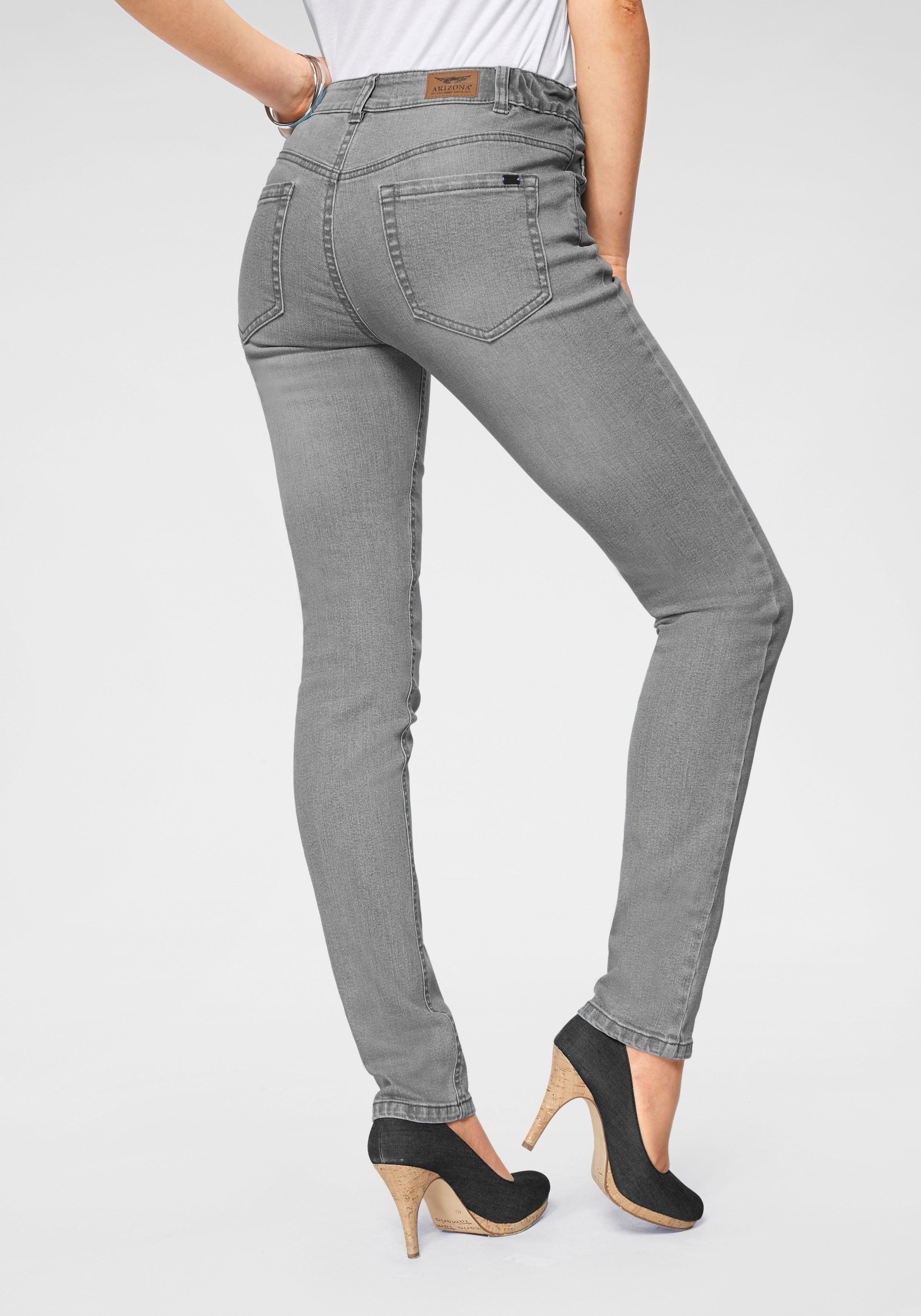 Arizona Slim fit Jeans »Svenja Bund mit seitlichem Gummizugeinsatz« High Waist online kaufen   OTTO