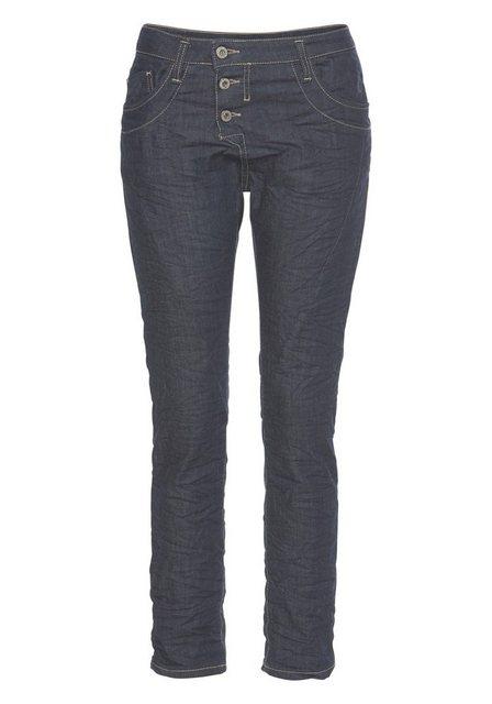 Please Jeans Boyfriend-Jeans »P78A« Crinkle Jeans mit auffallender Knopfleiste und krempelbaren Bein | Bekleidung > Jeans > Boyfriend-Jeans | Please Jeans