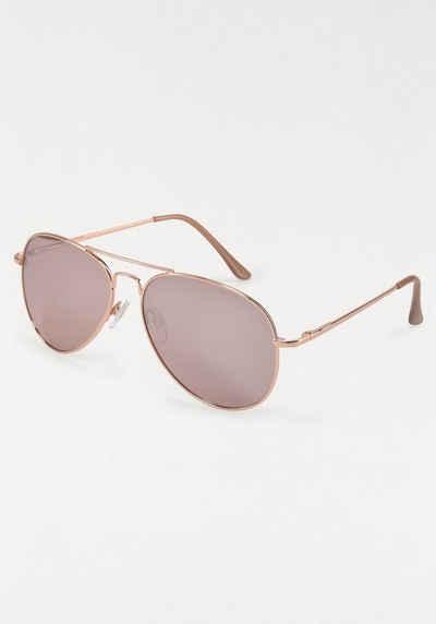J.Jayz Sonnenbrille Fliegerbrille, Aviator Look, Pilotenform, Gläser verspiegelt