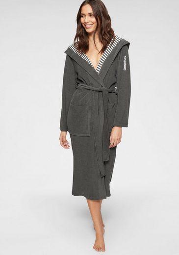 Damenbademantel »Dalia«, KangaROOS, außen Unifarben und innen mit Streifen
