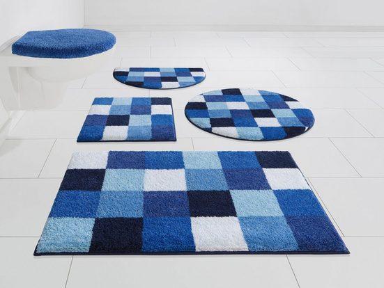 Badematte »Mosaik« GRUND exklusiv, Höhe 20 mm, rutschhemmend beschichtet, fußbodenheizungsgeeignet