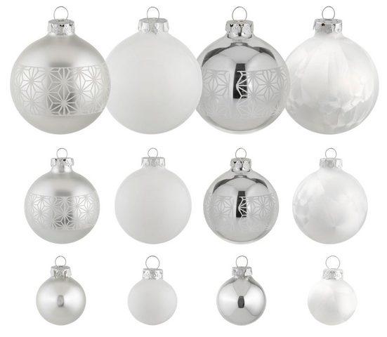 Thüringer Glasdesign Weihnachtsbaumkugel »Eisprinzessin« (30 Stück), mundgeblasen