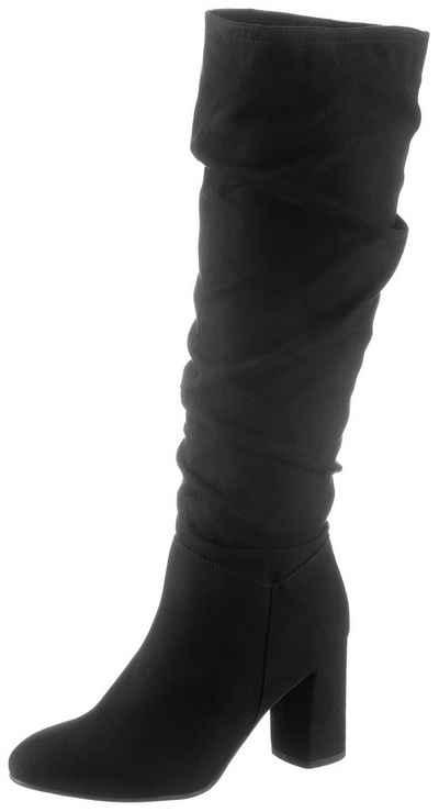 s.Oliver Stiefel mit modischen Raffungen am Schaft