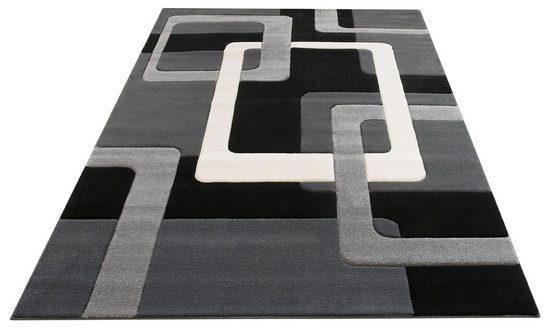Teppich »Maxim«, my home, rechteckig, Höhe 13 mm, Hoch-Tief-Effekt, Wohnzimmer