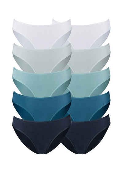 Go in Bikinislip (10 Stück) in frischen Uni-Farben