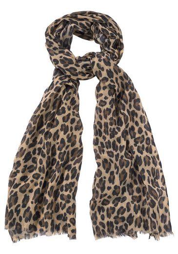 J.Jayz Modeschal Leichter Schal mit Leo Muster, Animal Print