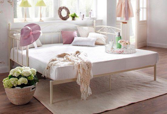 Home affaire Daybett »Birgit«, mit einer praktischen ausziehbaren Liegefläche, schönes Metallgestell
