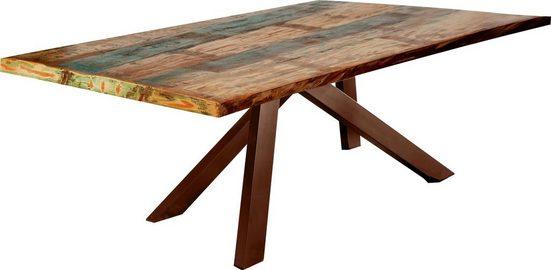 SIT Esstisch »Tops&Tables«, mit bunter Altholzplatte im Shabby Chic Look