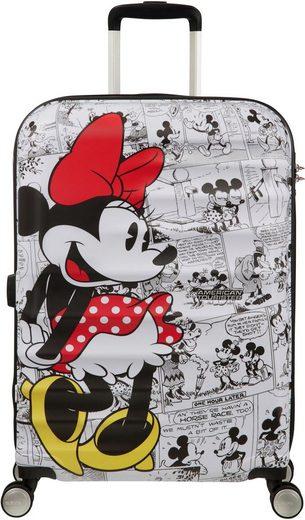 American Tourister® Hartschalen-Trolley »Wavebreaker Disney, 67 cm, Minnie White«, 4 Rollen