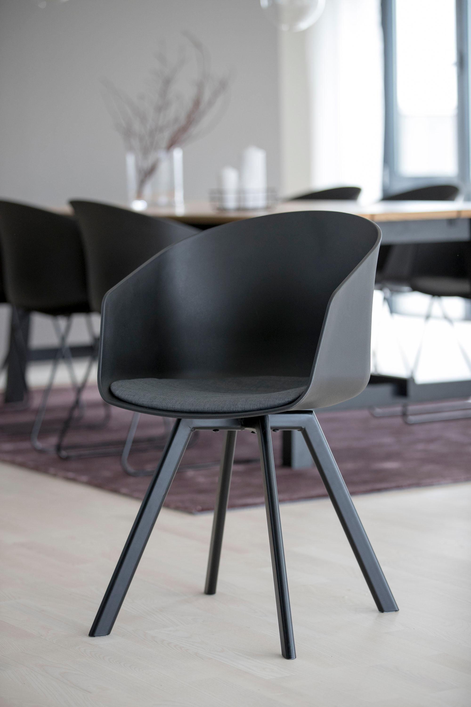 andas Schalenstuhl »Maik« 2er Set, mit Metallbeinen und einem bequemen Sitzkissen aus schönem Webstoff, Sitzhöhe 46 cm online kaufen | OTTO
