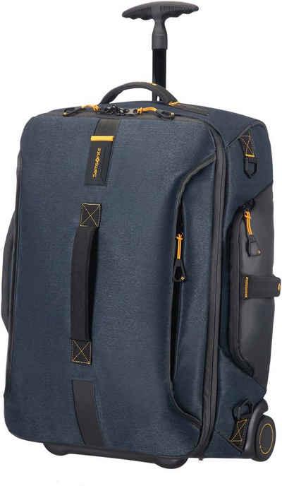 Samsonite Reisetasche »Paradiver Duffle 55, jeans blue mit Trolley- und Rucksackfunktion«