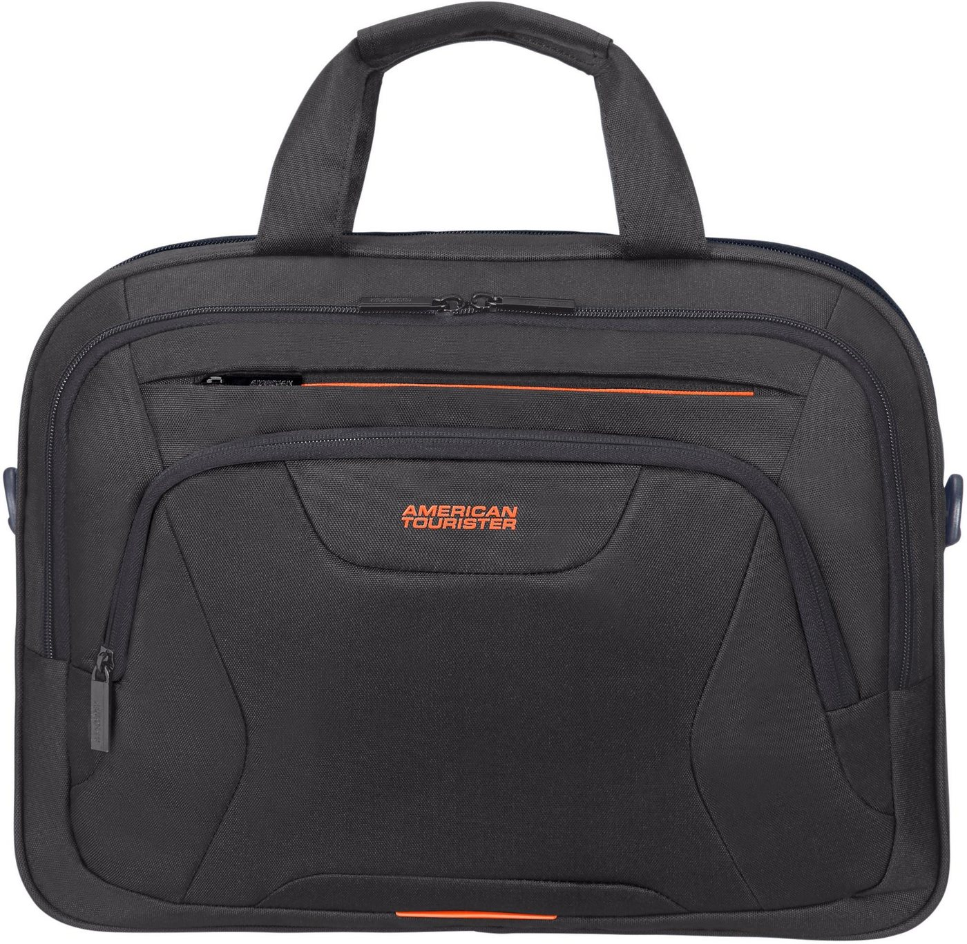 american tourister® -  Laptoptasche »At Work 15.6, black/orange«