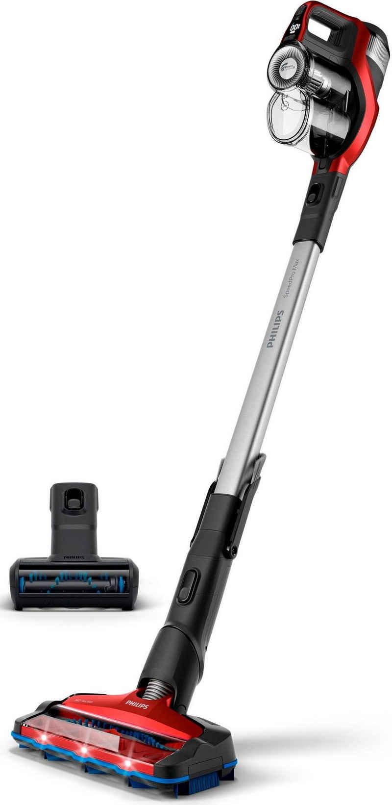 Philips Akku-Stielstaubsauger XC7043/01, beutellos, SpeedPro Max beutellos, 65 Minuten Akkulaufzeit, inkl. Turbo Tierhaarbürste
