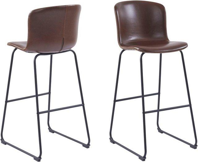 Barmöbel - andas Barhocker »Sigwald« (Set, 2 St), mit schwarzen Kufen Metallbeinen, Sitzhöhe 75 cm  - Onlineshop OTTO