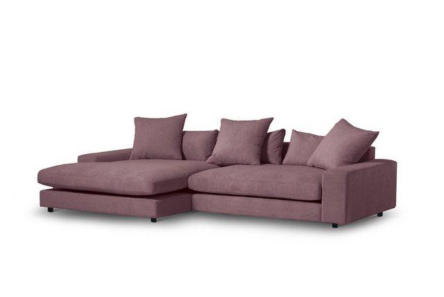 INOSIGN Ecksofa »Odina«, in flauschiger-Optik mit Kunststoff Füßen | Wohnzimmer > Sofas & Couches > Ecksofas & Eckcouches | INOSIGN