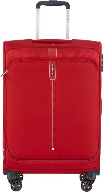 Samsonite Weichgepäck-Trolley »Popsoda, 66 cm, red«, 4 Rollen | Taschen > Koffer & Trolleys > Trolleys | Polyester | Samsonite