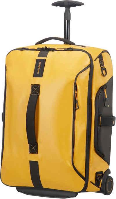 Samsonite Reisetasche »Paradiver Duffle 55, yellow mit Trolley- und Rucksackfunktion«