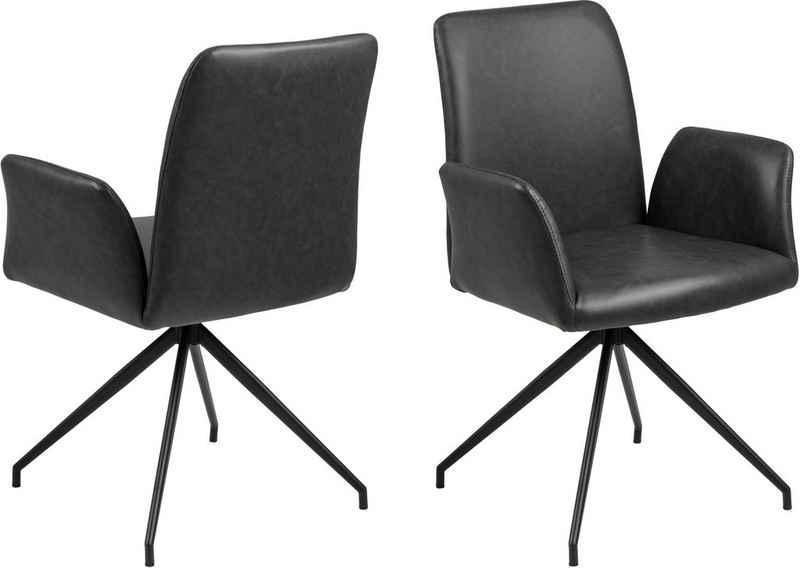 andas Drehstuhl »Nadine«, auswählbar mit einer praktischen Drehfunktion, mit schönen Metallbeinen, Sitzhöhe 47 cm