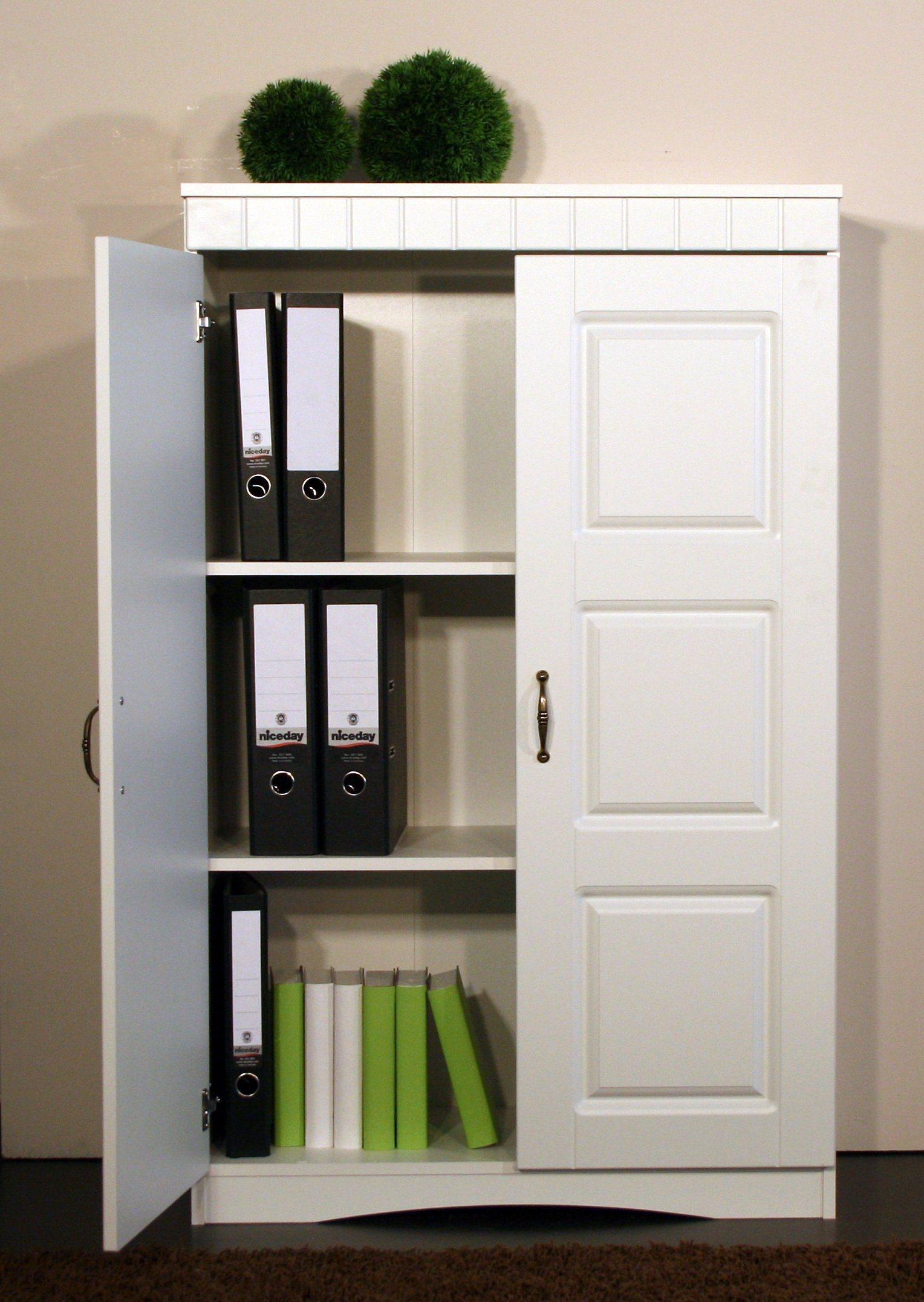 Aktenschrank »4132«, mit Metallgriffen | Büro > Büroschränke > Aktenschränke | Weiß | Mdf - Melamin