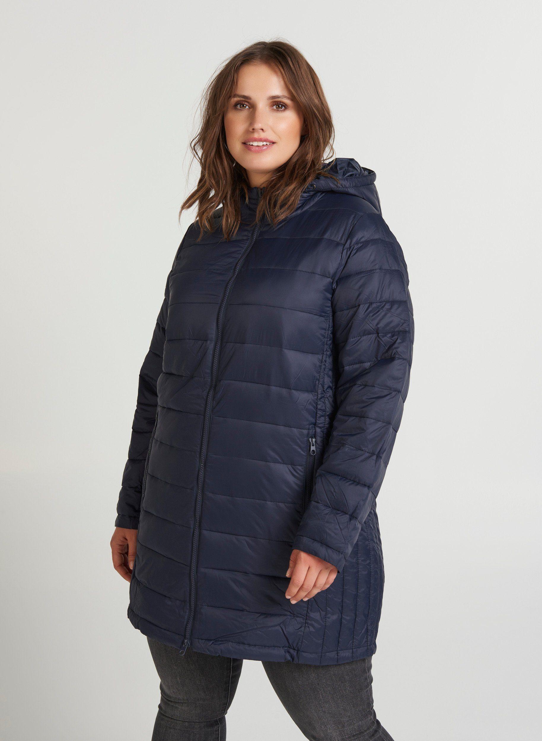 Zizzi Outdoorjacke Damen Große Größen Jacke Kapuze Stepp Parka Warm Winterjacke, Kapuze mit Tunnelzug online kaufen | OTTO