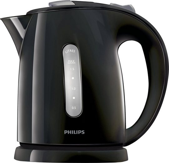 Philips Wasserkocher HD4646/20 Daily Collection, 1,5 l, 2400 W, Anti-Kalk, schwarz