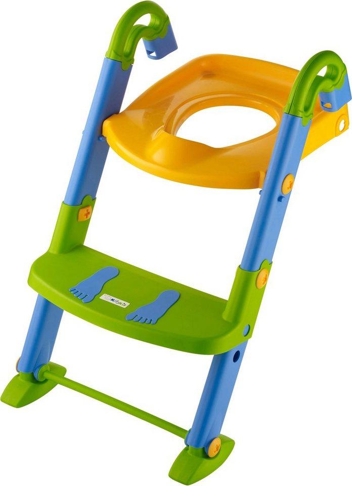 Kinder WC Faltbar Toilettentrainer Toilettensitz T/öpfchen Sitz Klo Trainer Mit Treppe Blau+Gr/ün