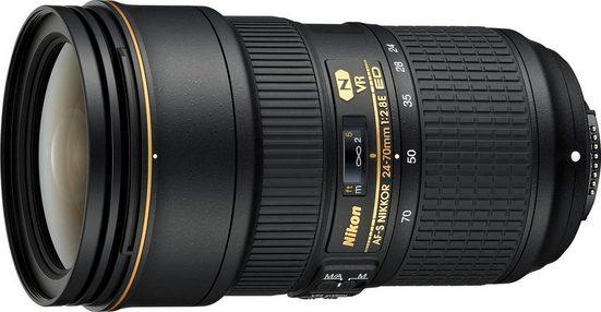 Nikon »AF-S NIKKOR 24-70 mm 1:2.8E ED VR.« Objektiv, (HB-74, CL-M3)