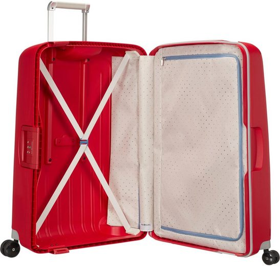 Samsonite Hartschalen-Trolley »S'cure  69 cm  crimson red«  4 Rollen