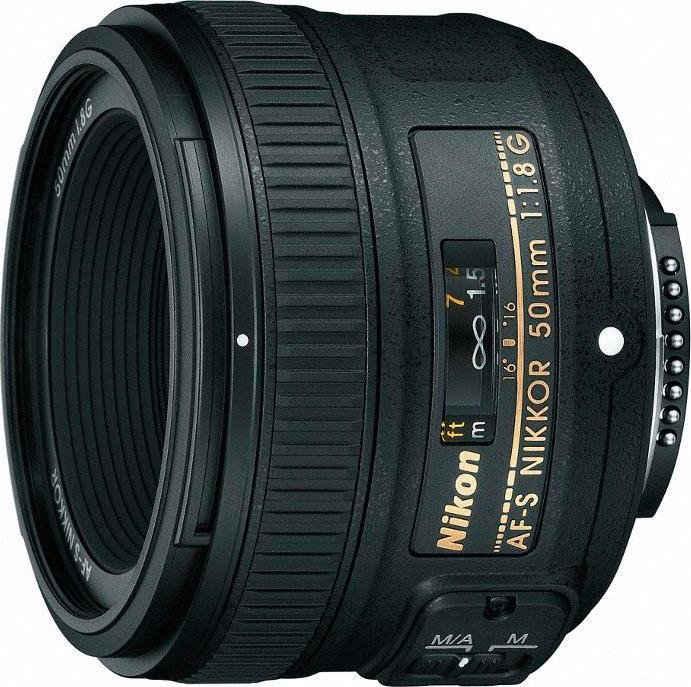 Nikon »AF-S NIKKOR 50 mm 1:1,8G« Objektiv, (INKL. HB-47 u. CL-1013)
