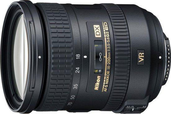 Nikon »AF-S DX NIKKOR 18-200 mm 1:3,5-5,6G ED VR II« Objektiv, (HB-35)