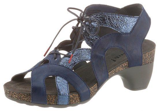 Think! »Traudi« Sandalette mit feinem Metallic-Besatz