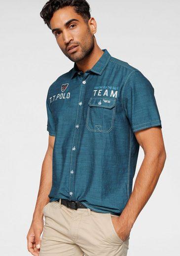 Schlussverkauf TOM TAILOR Polo Team Kurzarmhemd mit Stickerei