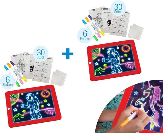 MediaShop Zaubertafel »Magic Pad«, (Set, 2-tlg)