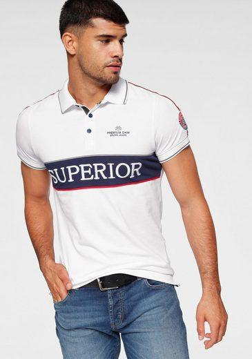 Bruno Banani Poloshirt mit modischem Tape auf den Schultern