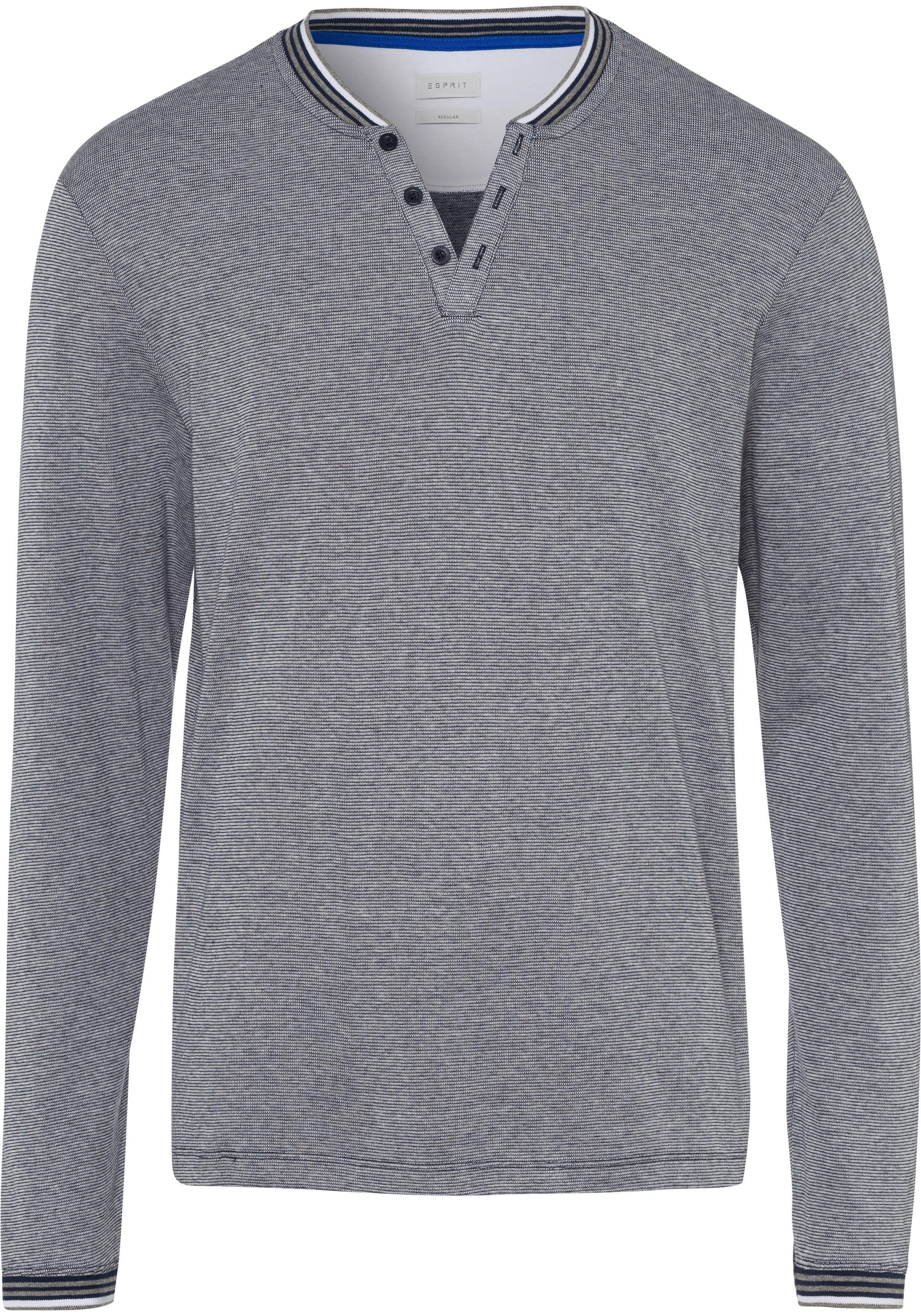 Esprit Langarmshirt mit dekorativen Knöpfen und Details online kaufen | OTTO