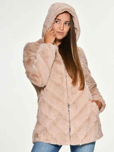 Maze Fake Fur Jacke mit Kapuze »Campana«