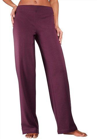 Vivance Homewearhose mit geradem Bein in N-Größen in rubinrot