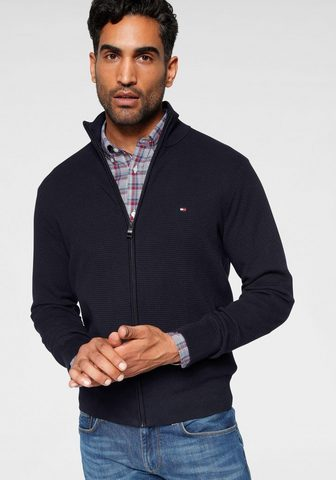 TOMMY HILFIGER Megztinis »STRUCTURED COTTON ZIP THRU«...