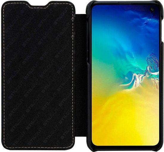 STILGUT Smartphone-Hülle »Book Type Case für Samsung Galaxy S10e« Samsung Galaxy S10e
