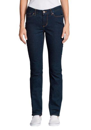 Eddie Bauer 5-Pocket-Jeans Stayshape - Straight Leg - Curvy
