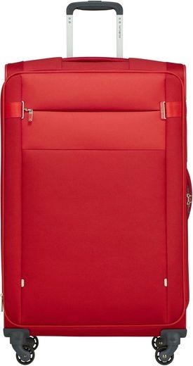 Samsonite Weichgepäck-Trolley »Citybeat, 78 cm, red«, 4 Rollen
