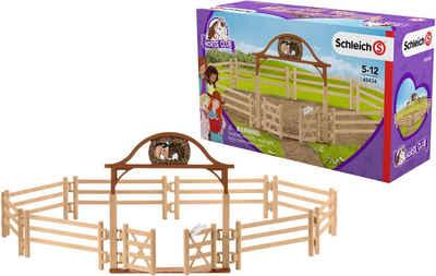 Schleich® Spielwelt »Horse Club, Pferdekoppel mit Eingangstor (42434)«, Made in Germany
