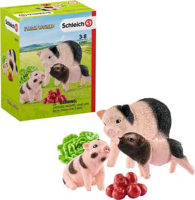Schleich® Spielfigur »Farm World, Mini-Schwein Mutter und Ferkel (42422)«, (Set)