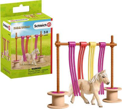 Schleich® Spielfigur »Farm World, Pony Flattervorhang (42484)«