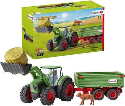 Schleich® Spielzeug-Traktor »Farm World, Traktor mit Anhänger (42379)«, (Set), Made in Germany